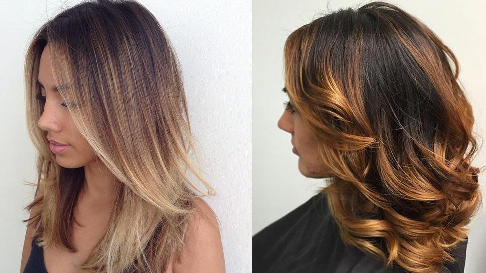 Окрашивание каскада на средние волосы
