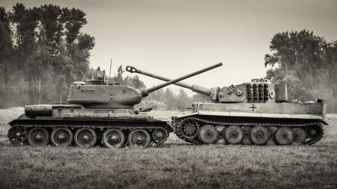Танковая дуэль Т34иПантеры. Такого втанковой истории больше небыло