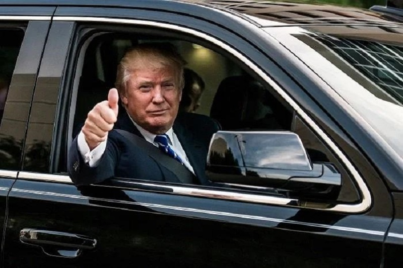 Дональд Трамп показал своего «Зверя». Такой выдержит даже попадание ракеты!
