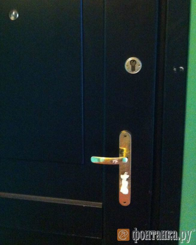 Коллекторы изЧечни испортили двери двадцати квартир вПетербурге