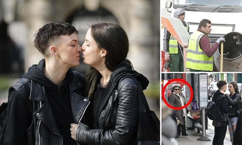 Пара лесбиянок проверила лондонцев натолерантность