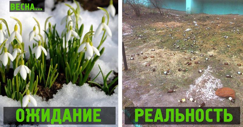 Весна пришла: ожидание иреальность