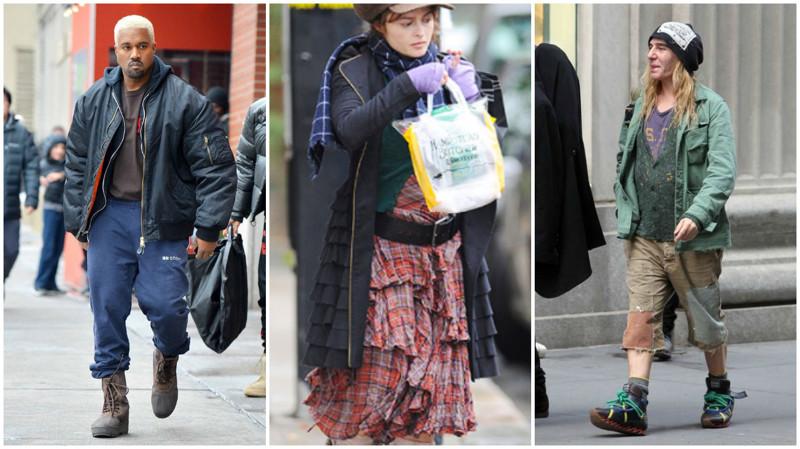 Знаменитости, которые вповседневной жизни одеваются какбомжи
