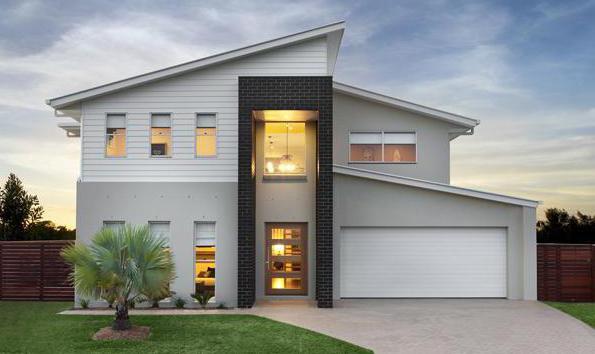 Проекты двухэтажного дома с гаражом. Оригинальные архитектурные решения