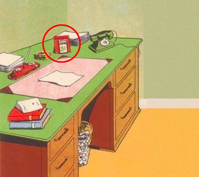 С этим столом что-то не так. Ну-ка найди, в чём подвох!