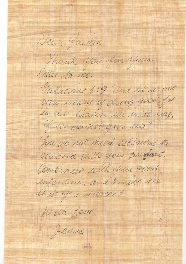 Мужчина написал письмо Иисусу иполучил ответ