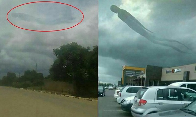 Облачный призрак досмерти напугал посетителей торгового центра вЗамбии