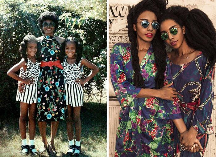 Сестры-близняшки, прославившиеся благодаря своим невероятным шевелюрам