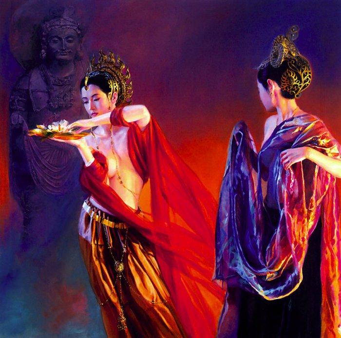 Японское и китайское ню в современной живописи. Вот как выглядит восточная нагота.