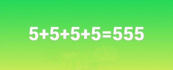 У тебя есть ровно 5 секунд, чтобы сделать из этого верное равенство. Посмотрим, получится ли!