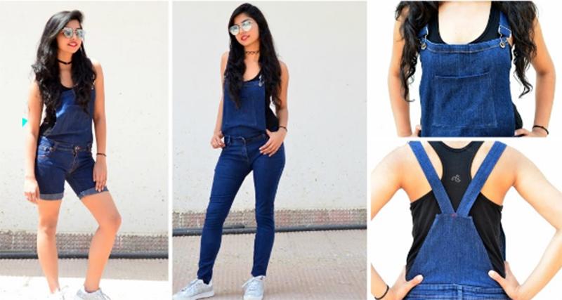 8ac2dc366dfa Сделайте сами: превращаем старые джинсы в модный комбинезон
