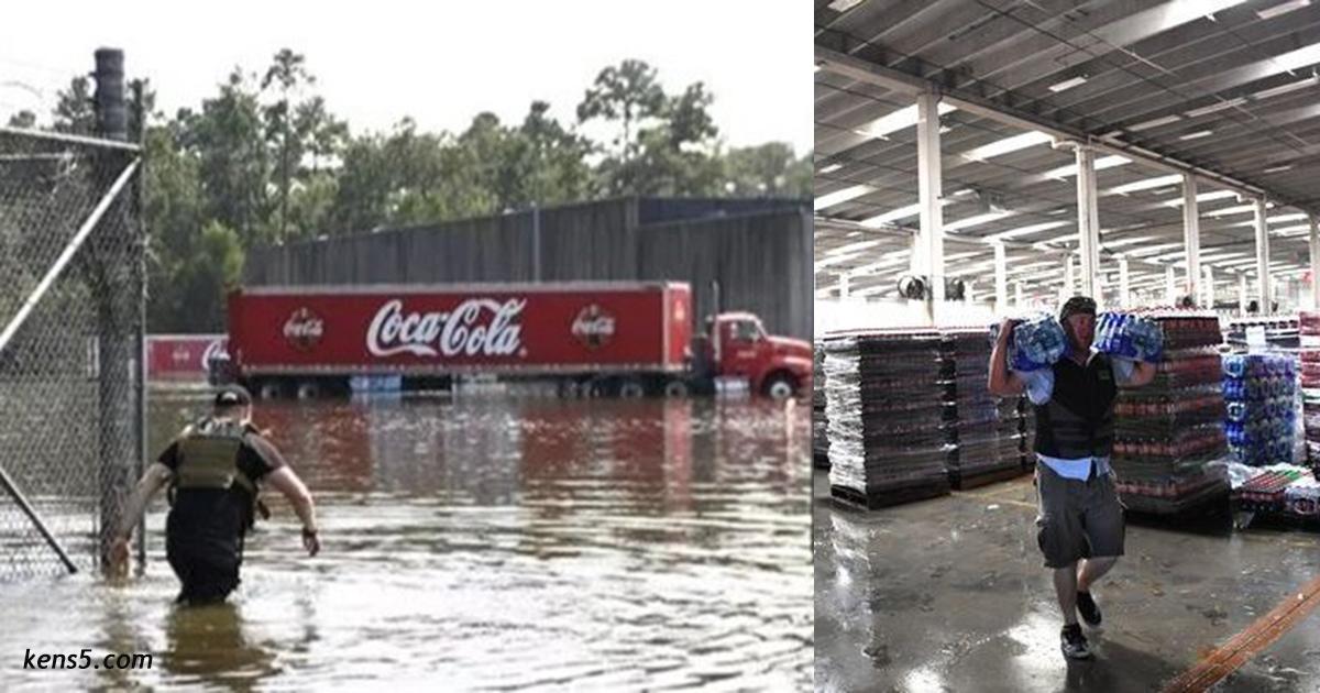 Люди в городе остались без воды. И Coca Cola разрешила им ″ограбить″ свой склад
