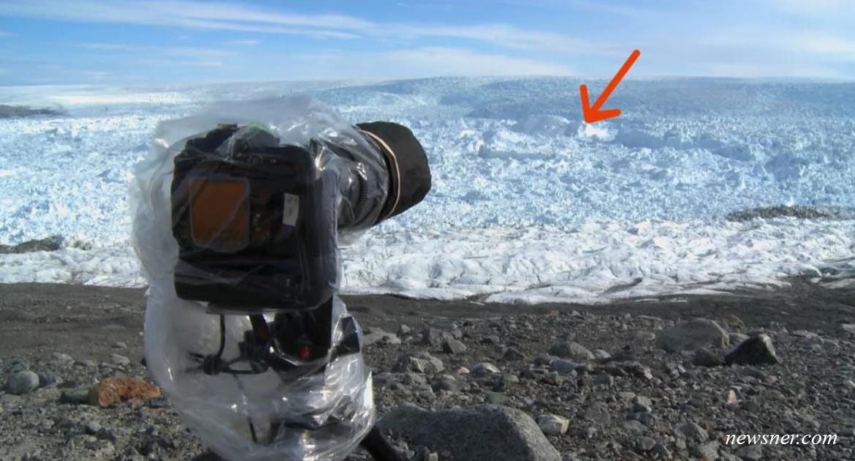 Мужик оставил камеру на льду. А через минуту она сняла что то очень, очень тревожное…