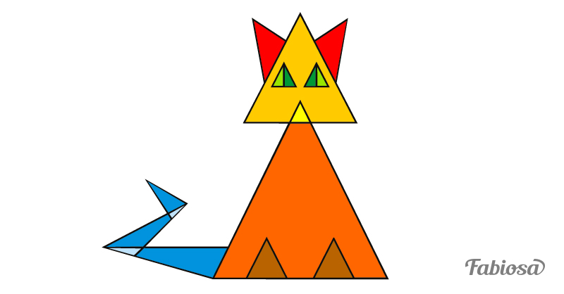 Тест на логику. Сколько треугольников вы сможете насчитать в этом котике?