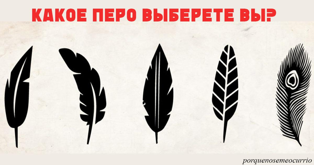 Выберите перо, которое вам нравится,   и мы узнаем, в чем ваша уникальность!