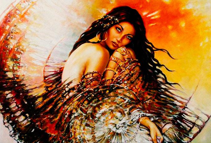 Брюнетка царица востока красота и скромность подарок текст от бога 30