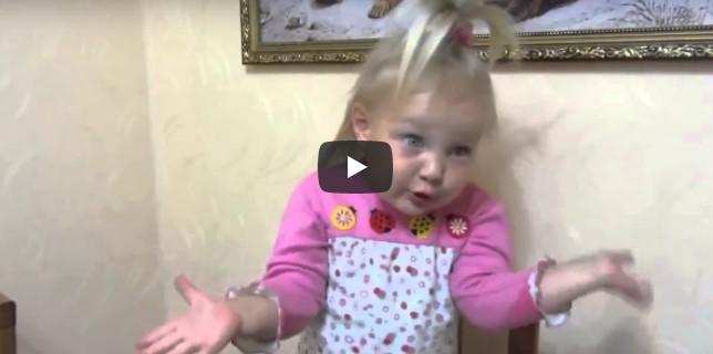 Маленькая артистка взорвала Сеть! «Бабушка — вызови врача!»