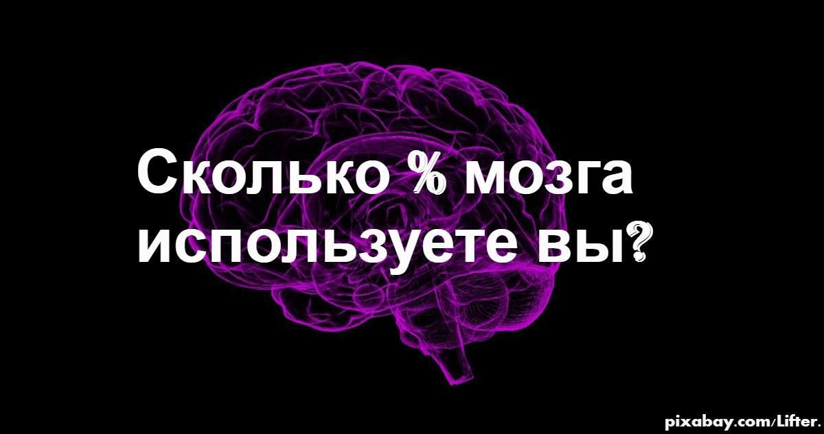 Какой процент своего мозга используете лично Вы? И как это изменить?