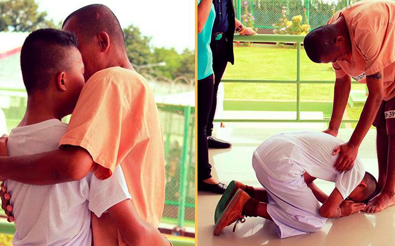 На экскурсии в тюрьме школьник среди заключенных узнал своего отца