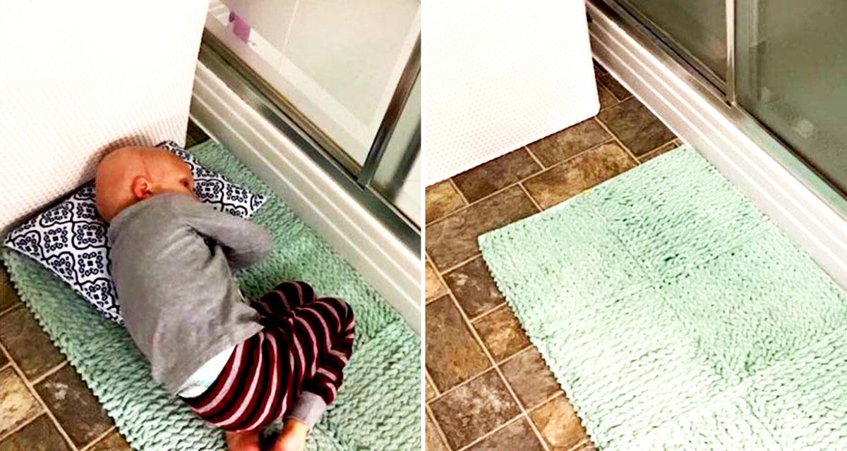 Она была в душе, малыш лёг на коврик и прошептал: «Мам, я устал сражаться… я хочу на Небеса…»