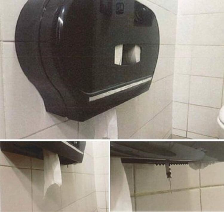 Остерегайтесь распределителя салфеток в общественных туалетах.