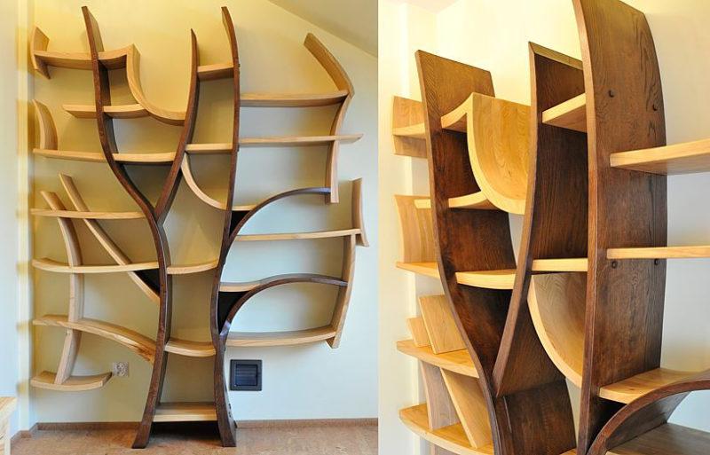 15 идей красивой и необычной мебели из дерева.