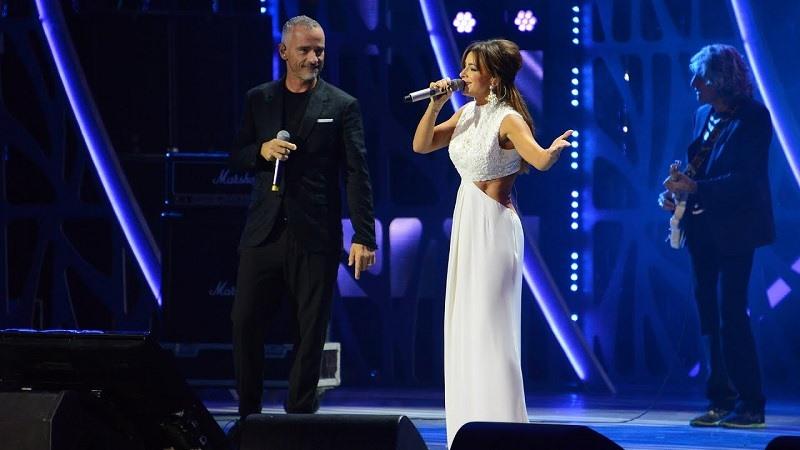 Сенсационный дуэт Ани Лорак и Eros Ramazzotti, покоривший всех сидящих в зале!