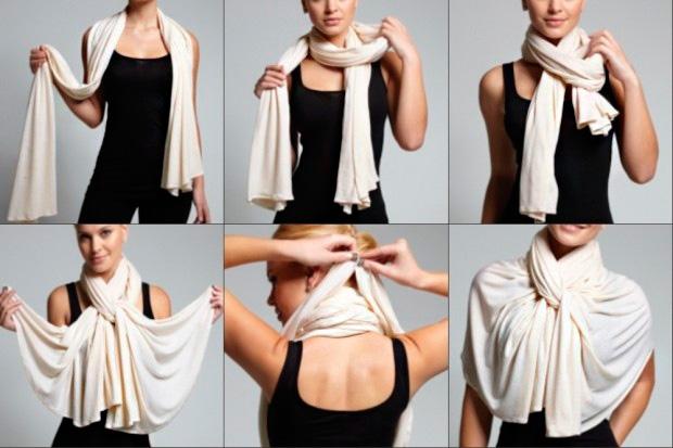 15 необычных способов завязать палантин или платок. Настоящее искусство!
