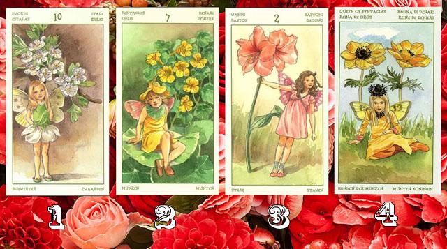 Выбранная Таро Карта волшебного цветка, расскажет какие в любви у вас будут следующие 3 дня