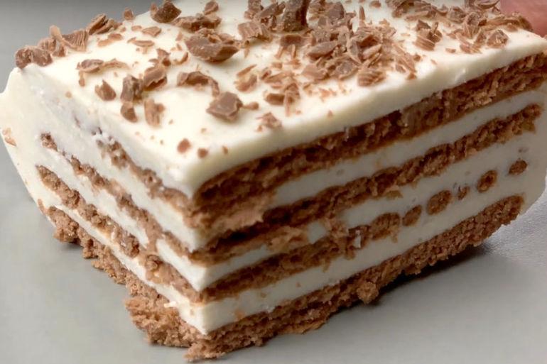 Нежнейший творожный торт