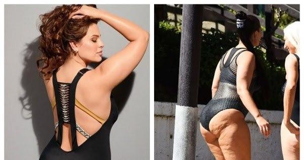5 фото, как в реальности выглядят тела plus-size моделей: красота требует фотошопа