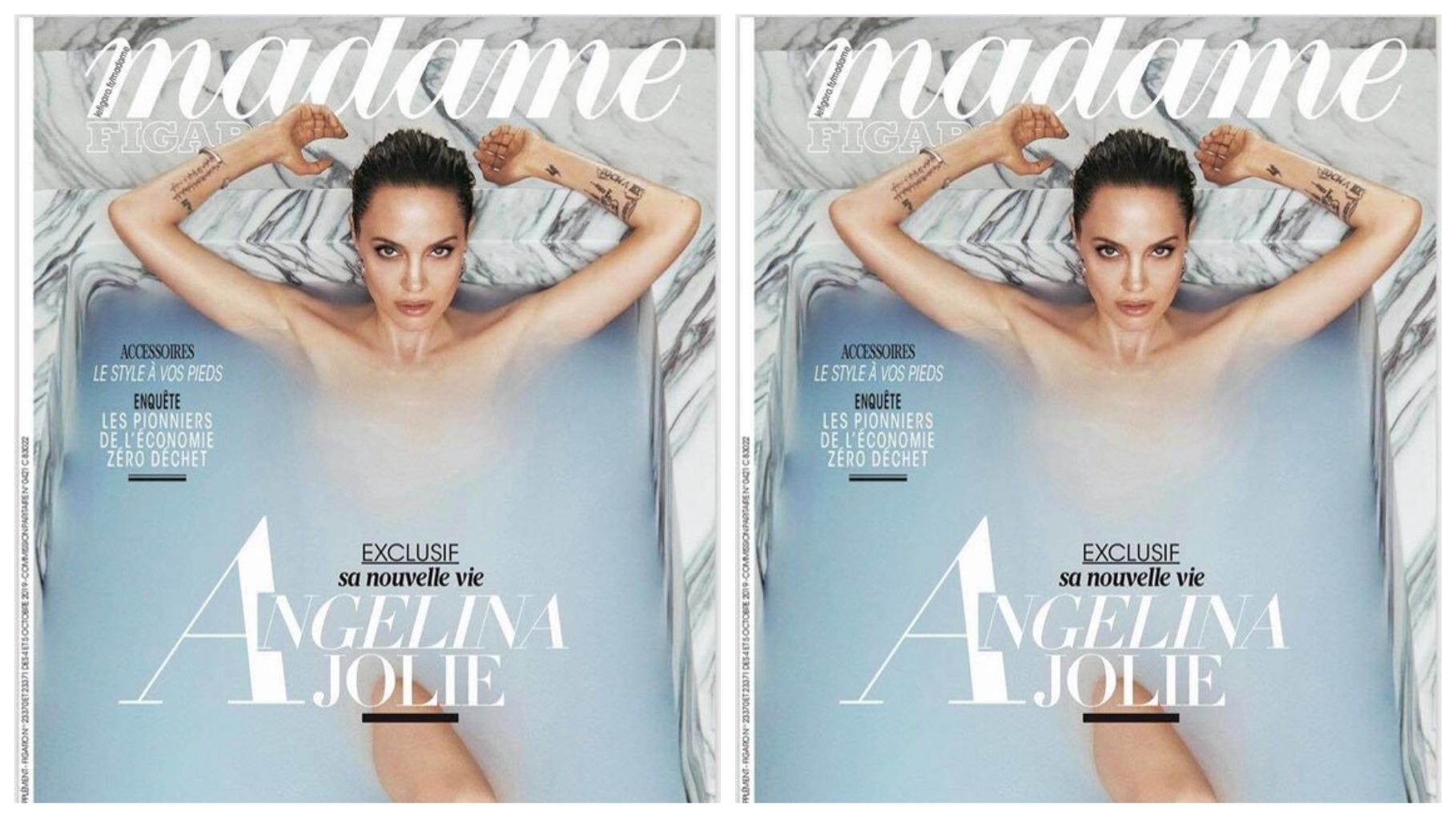 Анджелина Джоли снялась обнаженной в ванной — фото