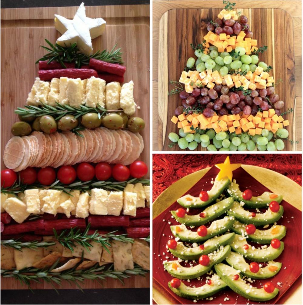 15 вариантов необычного оформления блюд для новогоднего стола