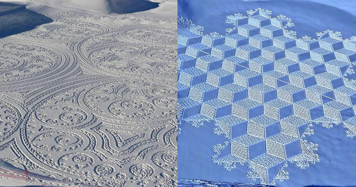 Вместо холста этот художник использует снег. Получается просто волшебно
