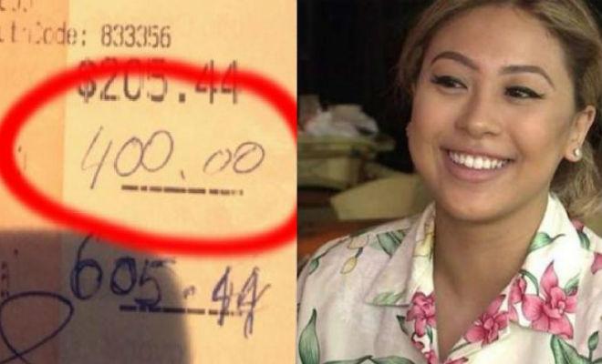 Официантка получила на чай 4 тысячи долларов от пары. Затем люди вернулись и попросили принять еще денег