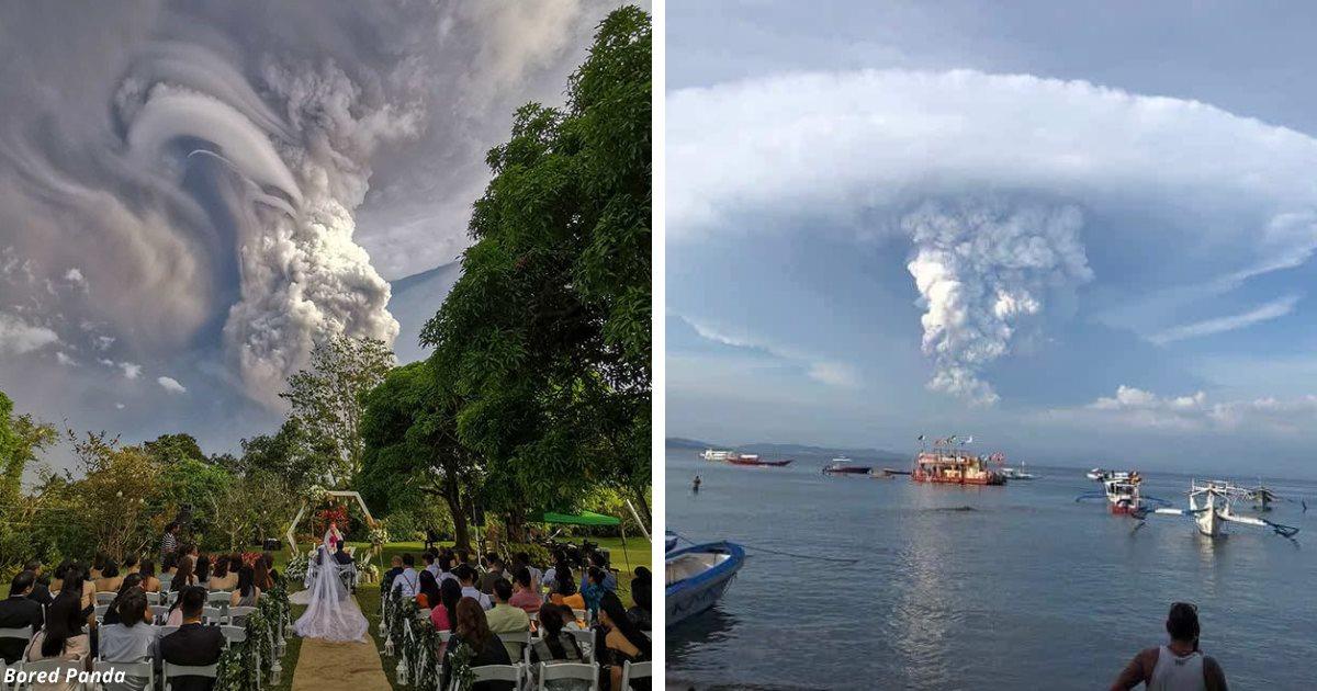 10 фото, показывающие всю мощь вулкана, который проснулся на Филиппинах