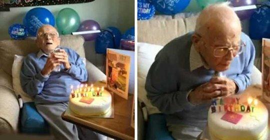 Ветеран второй мировой войны отмечает свои 107 лет в одиночестве