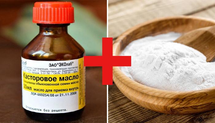 Касторовое масло и пищевая сода: как избавиться сразу от 24 проблем со здоровьем