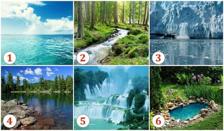 Тест: Выбираем понравившейся водоем