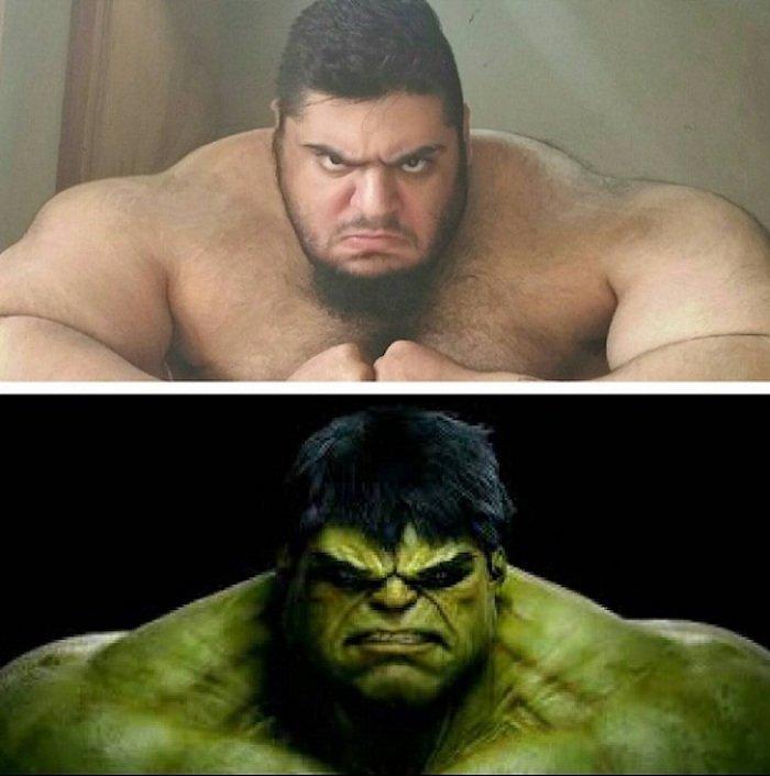 Этот огромный мужчина выглядит как настоящий Халк, но в его груди бьется доброе сердце!