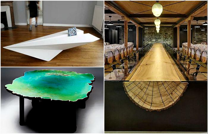 20 уникальных дизайнерских столов, которые поражают своей красотой и стилем
