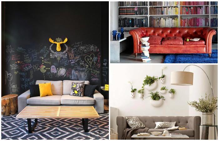 15 идей стильного оформления стены за диваном, которые добавят изюминку в интерьер вашей гостиной