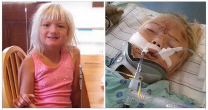 Ее 6 летней дочери ремень безопасности изрезал живот и она призывает родителей использовать автокресла.