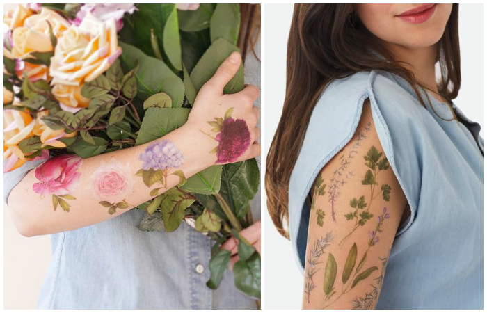 Временные татуировки с удивительным ароматом: самый нежный тренд весенне летнего сезона