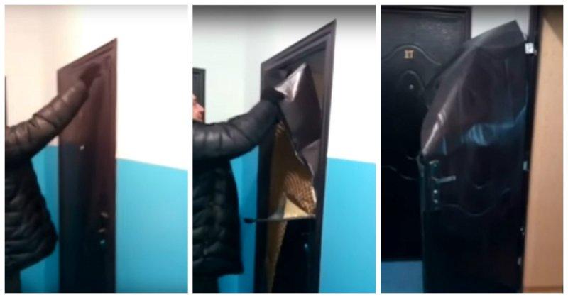 Забыли ключи дома? Непроблема! Дверь изфольги вновостройке Казахстана